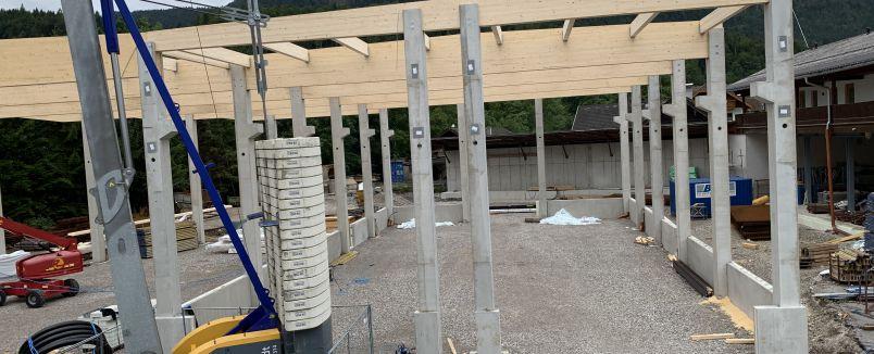 Neubau Holzbau-Halle bei BSU!